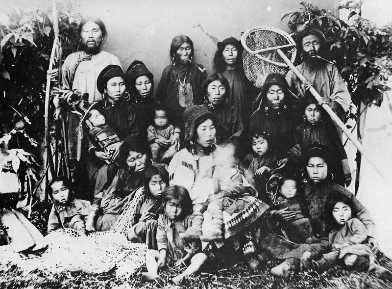 Portrait of a Nivkh family, 1880-90's.