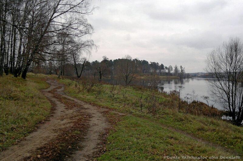 Барский пруд. Вид от усадьбы Гребнево в сторону Старой слободы.