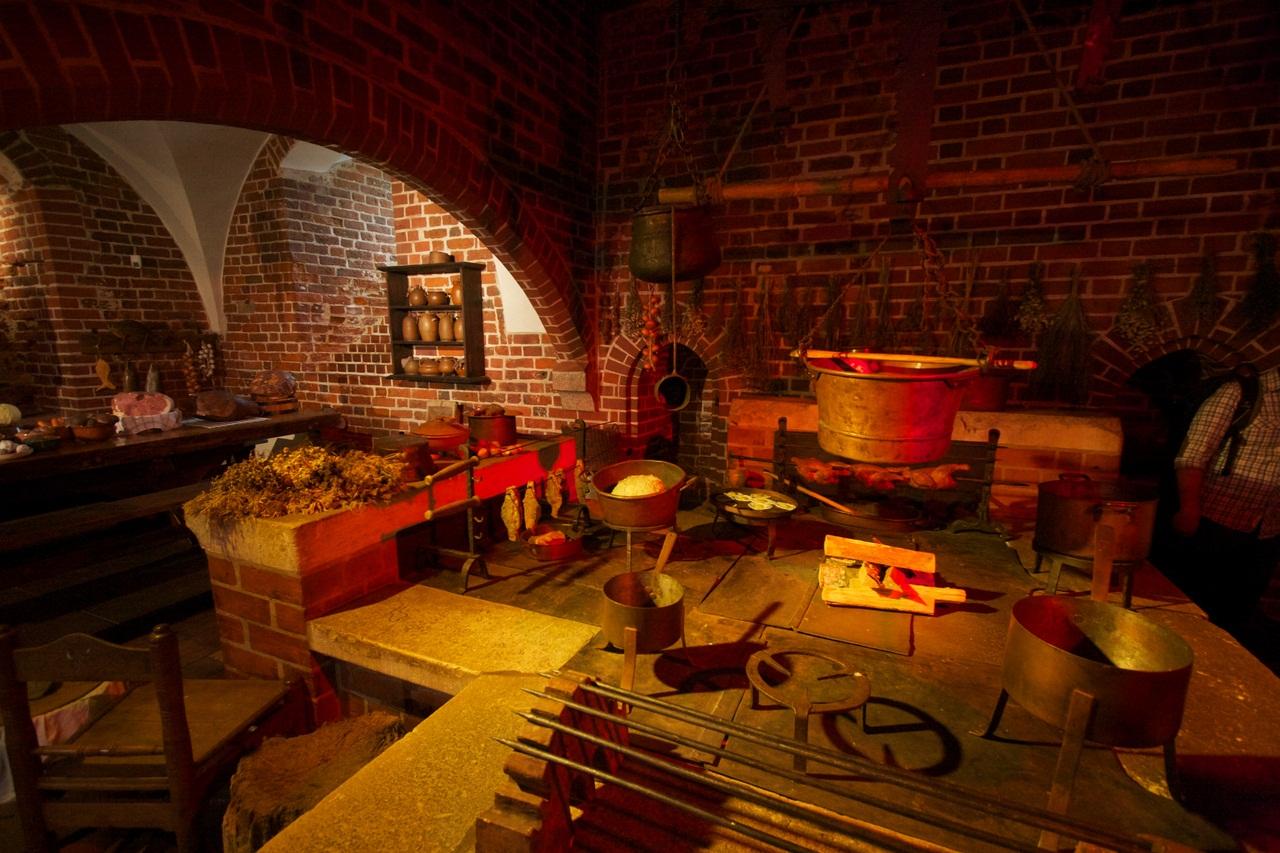 Malbork castle kitchen chimney