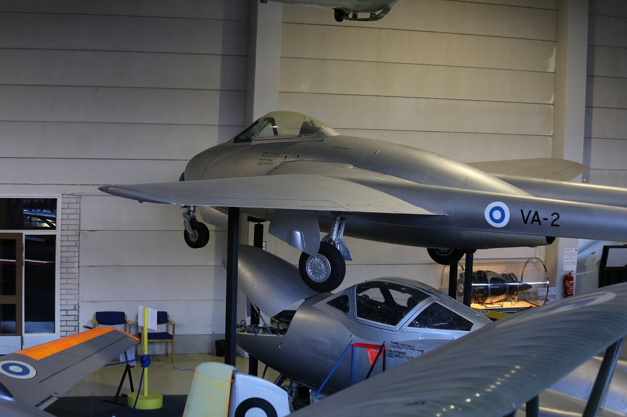 Авиамузей  Вантаа. De Havilland Vampire D.H. 100