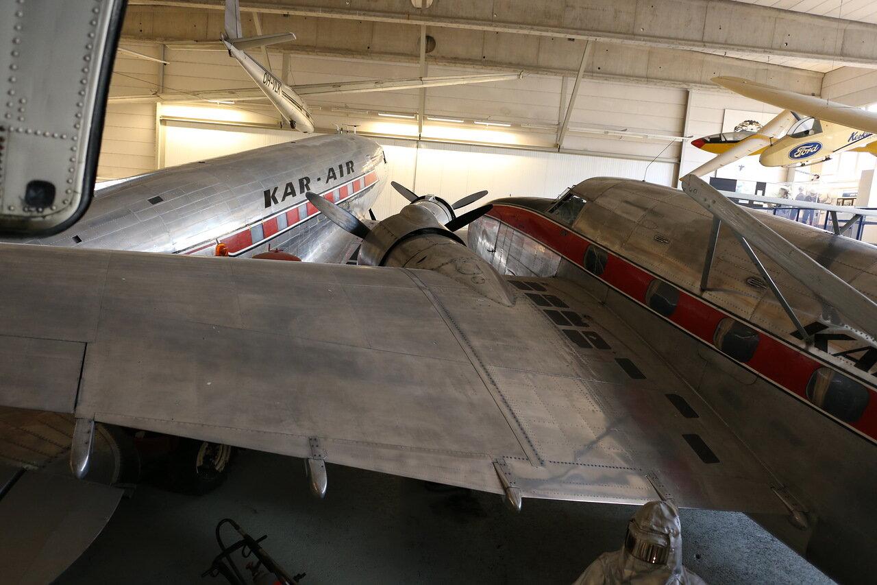 Helsinki-Vantaa Air Museum. Lockheed 18-07 Lodestar