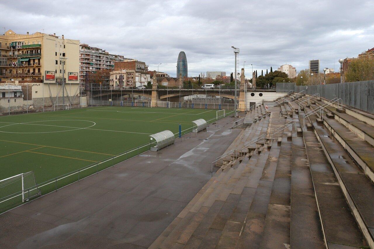 Barcelona. Fort Pienc stadium