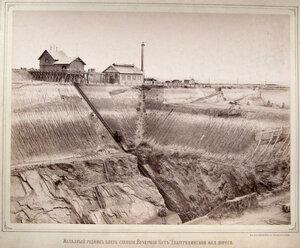 Железный рудник близ станции Вечерний Кут Екатерининской железной дороги.