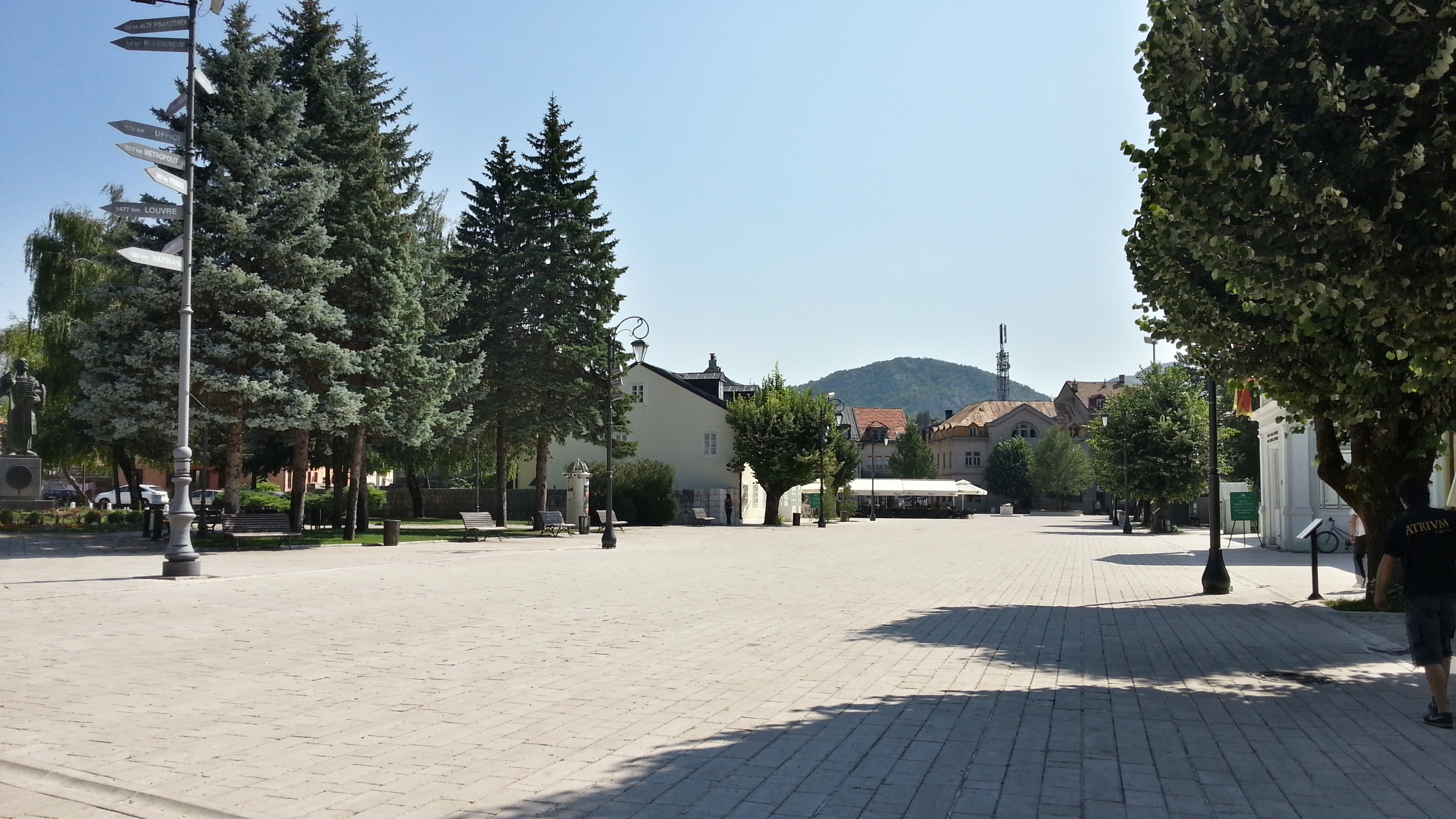 Центральная площадь в Цетине