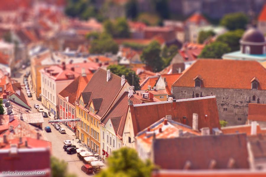 Эстония, Таллин, Tallinn, Estonia, tilt-shit, panorama Estonia