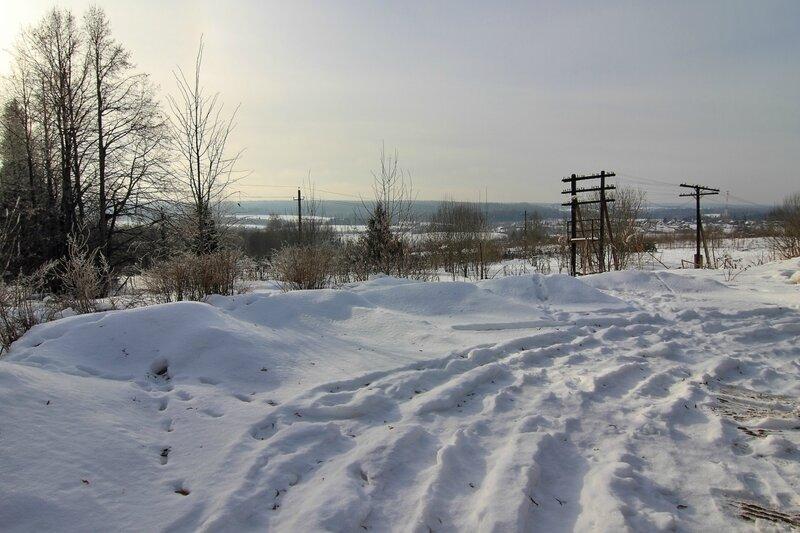 Пейзажи в окрестностях Подъячева