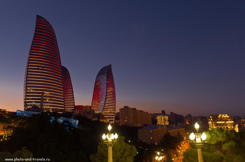 10. То превращается в огромный костер... Вечерний Баку. Что посмотреть за один день.