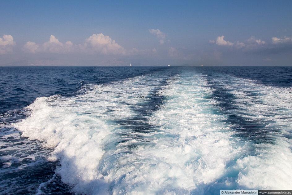 Море с теплохода
