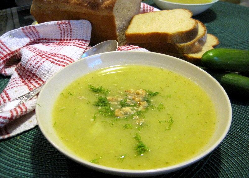 Летний суп-пюре огуречный. Приятный вкус ароматного лета!