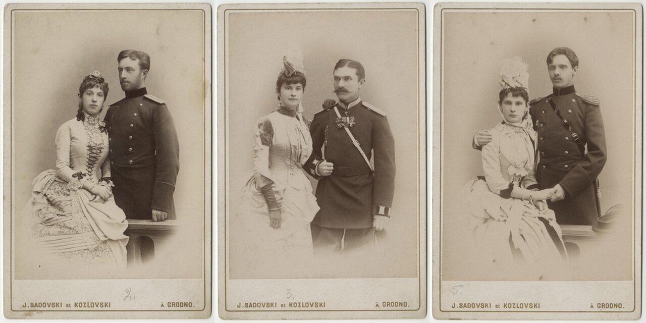 1900-е. Сестры Ольга, Елизавета и Юлия (урожденная цур Мюлен) со своими мужьями