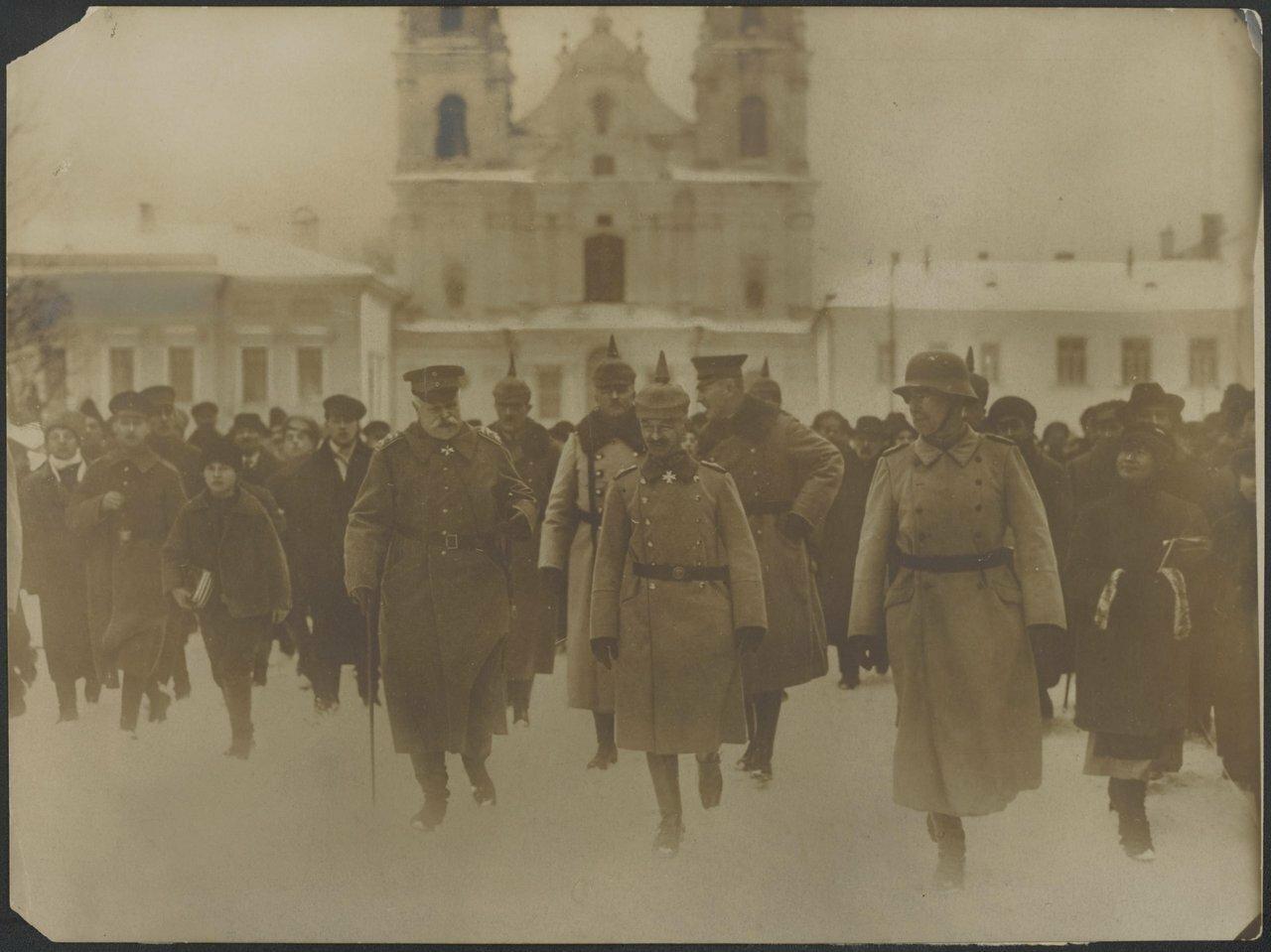 Немецкие войска в городе