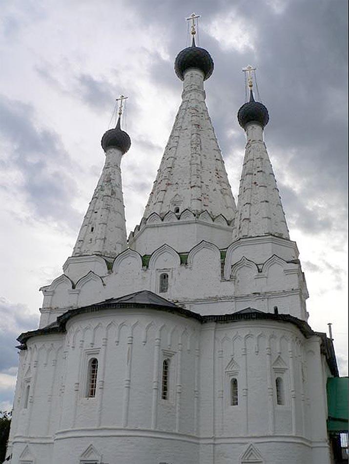 Дивная Церковь, Алексеевский женский Монастырь, Углич,чёрно-белая