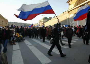 В России прошли митинги в поддержку присоединения Крыма