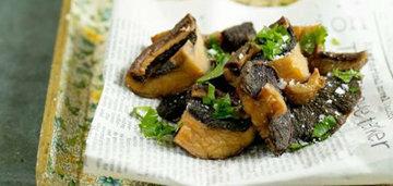 ПОДАТЬ жареные грибы во фритюре