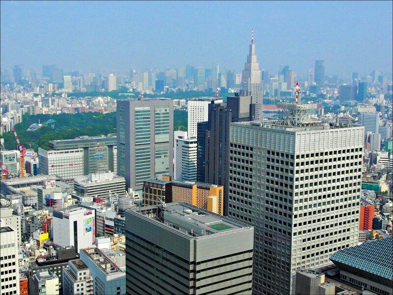 Токио Вид с 45 этажа смотровой площадки Токийского муниципалитета