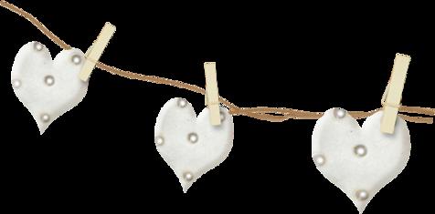 сердечки на веревке