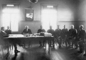 Общий вид судебной коллегии во время заседаний.
