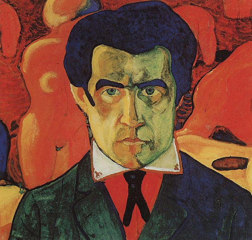 selfie / Self-portrait / Автопортрет, Казимир Малевич / Kazimierz Malewicz, 1910