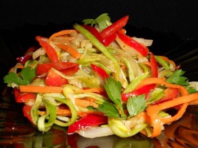 Маринованный салат с кабачками по корейски