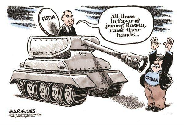 Putin and Crimea © Jimmy Margulies