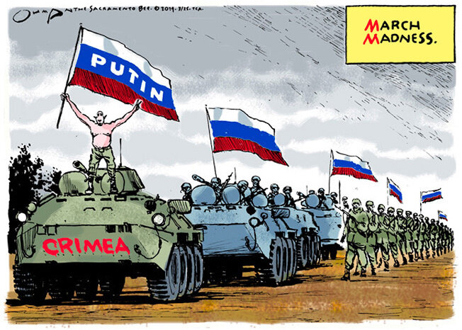 March Madness in Crimea — The Sacramento Bee, March 25, 2014 © Jack Ohman