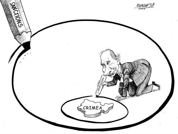 Circle — Kleine Zeitung, March 14, 2014 © Petar Pismestrovic