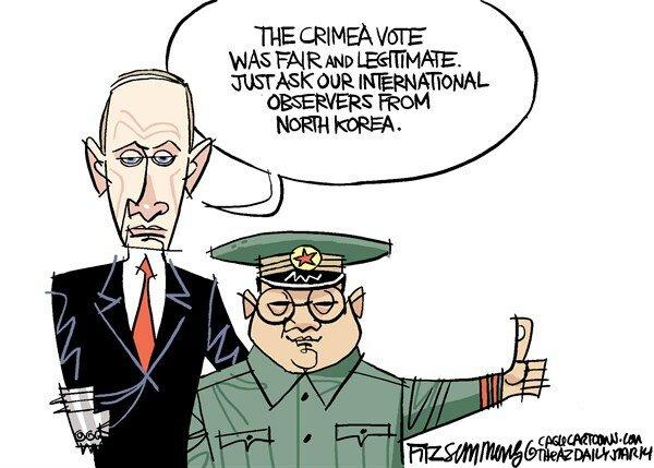 Crimea vote — The Arizona Star, March 17, 2014 © David Fitzsimmons