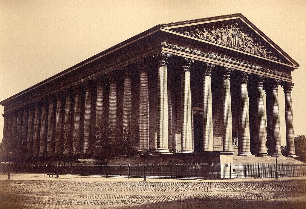 Париж. Церковь Мадлен. 1860