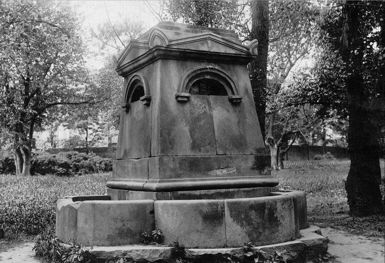 1930-е. Фонтан в Александровском саду