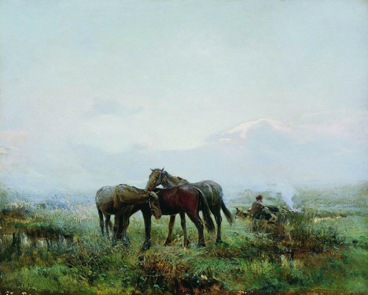 Казачий пикет. 1888
