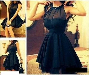 Платье черное с широкой юбкой