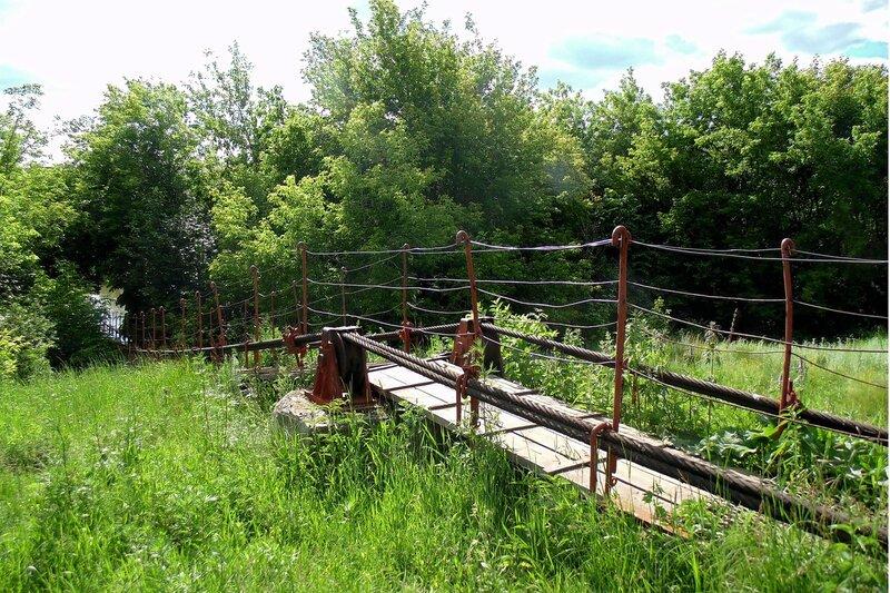 Подвесной мост в Казанцево