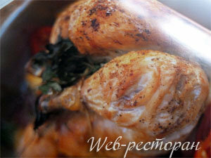 Курица запеченная в духовке с соусом