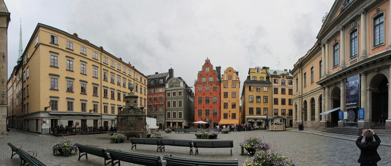 Stockholm, Stortorget square, panorama