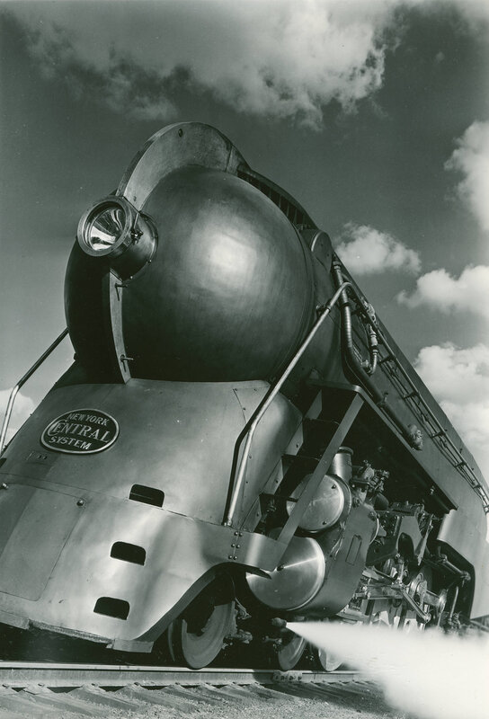New York Central Twentieth Century Limited steam locomotive 5453, Harmon, NY, May 12, 1938