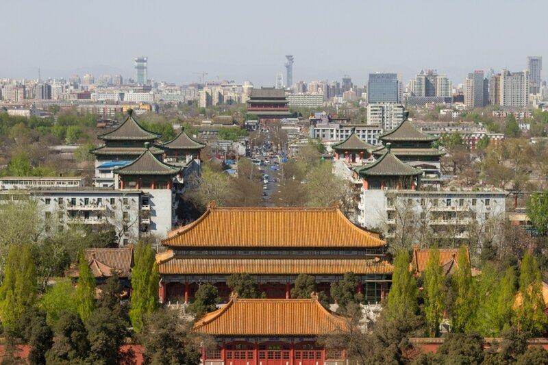 Вид на север, Парк Цзиншань, Пекин