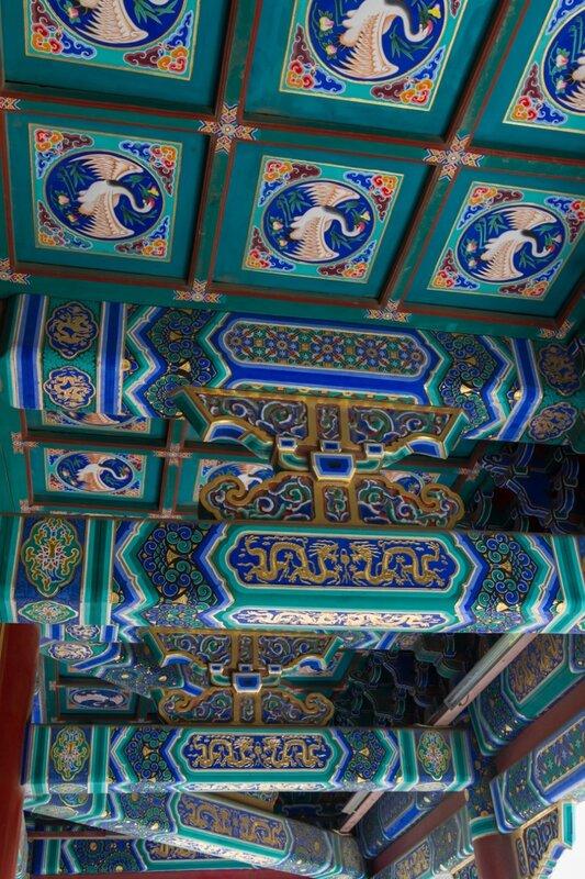 Балки в беседке Ваньчуньтин, Парк Цзиншань, Пекин