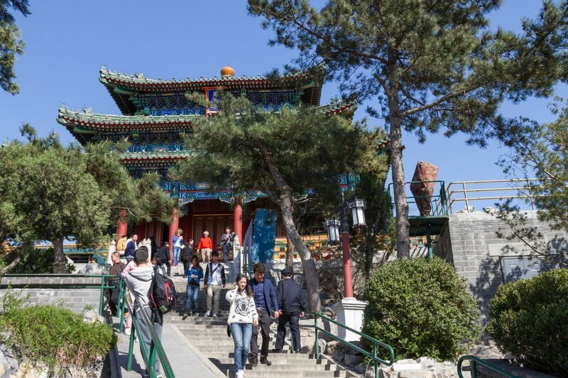 Беседка Ваньчуньтин на вершине горы Цзиншань, Парк Цзиншань, Пекин
