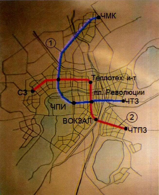 Схема первого варианта трассы