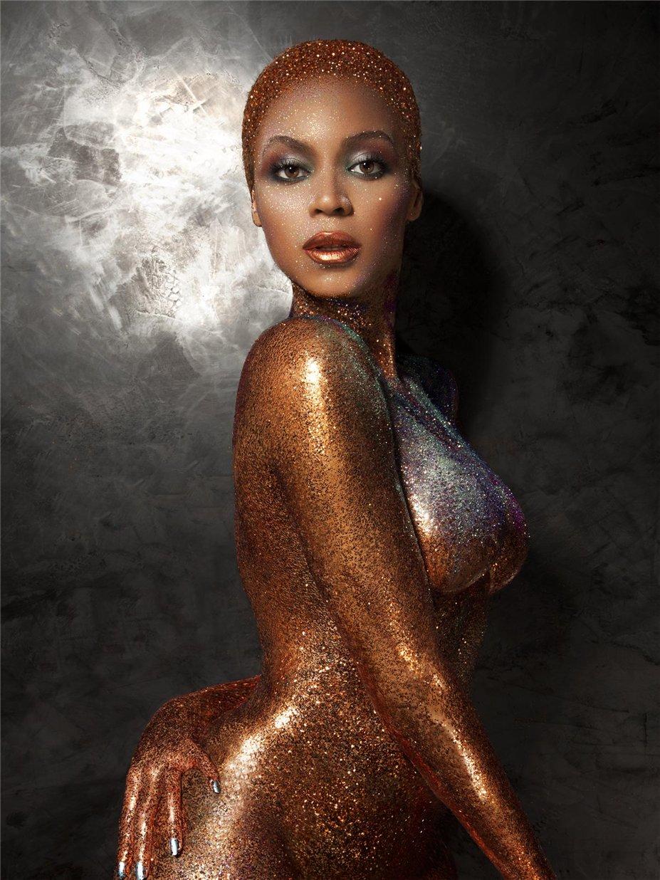 Золотой боди-арт на обнаженной Бейонсе / Beyonce by Tony Duran in Flaunt Magazine summer 2013