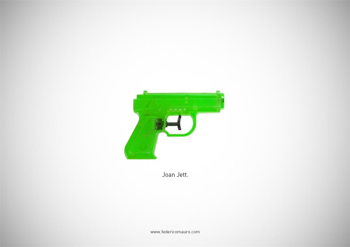 Знаменитые пушки - оружие культовых персонажей / Famous Guns by Federico Mauro - Joan Jett (The Runaways)