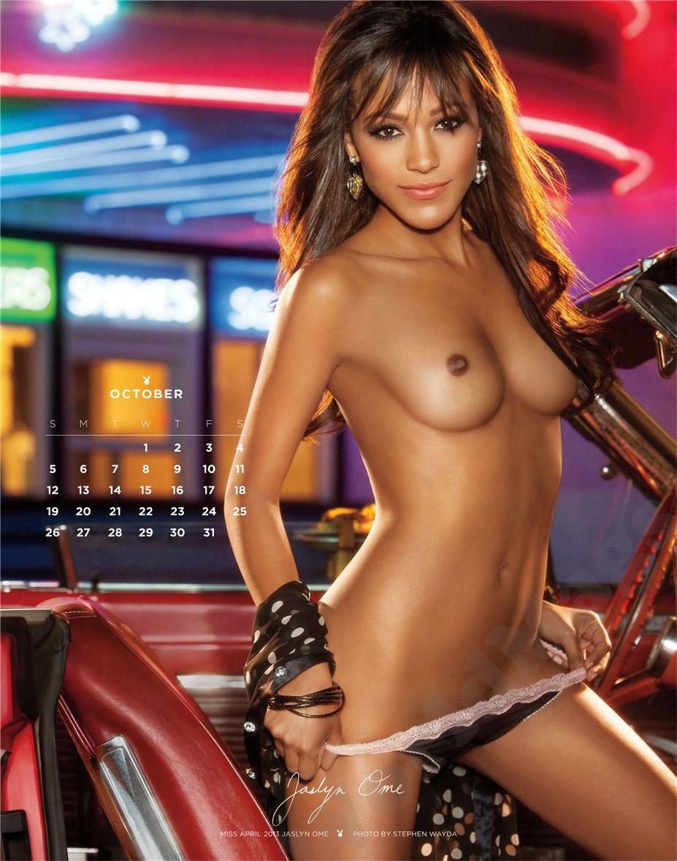 october - Playboy USA playmate calendar 2014 / Jaslyn Ome - Miss April 2013