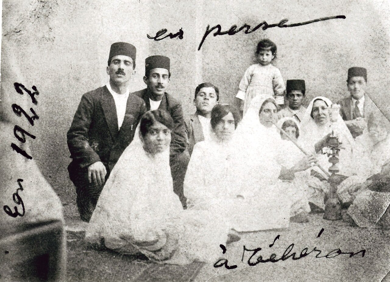 Помолвка Тахира и Туран Анавим, Тегеран, 1922