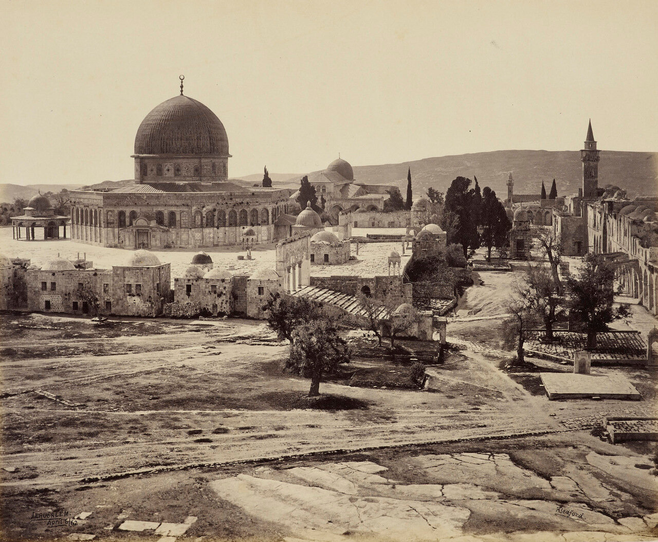 6 апреля 1862. Мечеть Омара от дома губернатора. Иерусалим