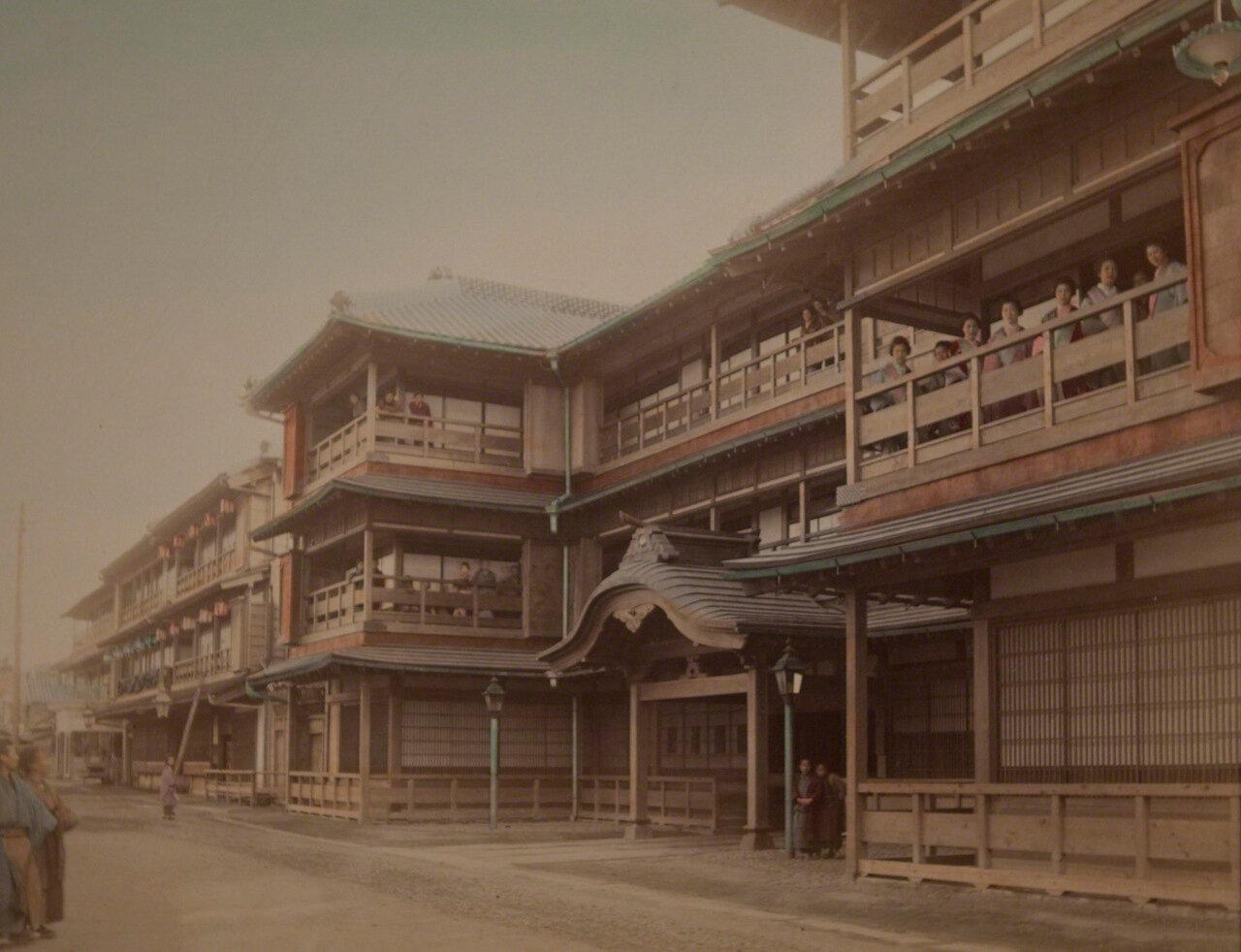 Квартал красных фонарей Ёсивара в Токио