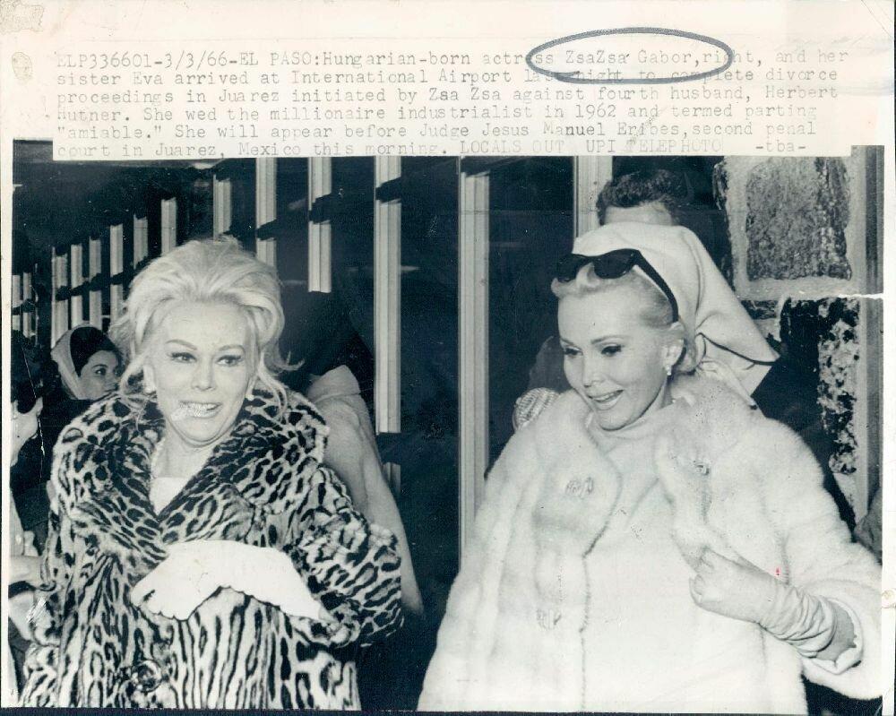 1966. Сестра актрисы Жа Жа и Ева Габор