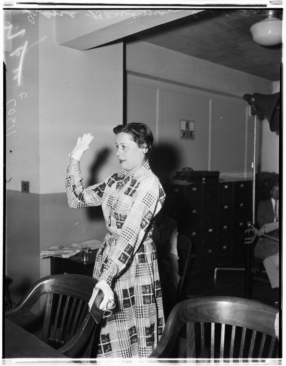 1955. 29 июня. Комиссия по расследованию антиамериканской деятельности. Сильвия Шонфилд
