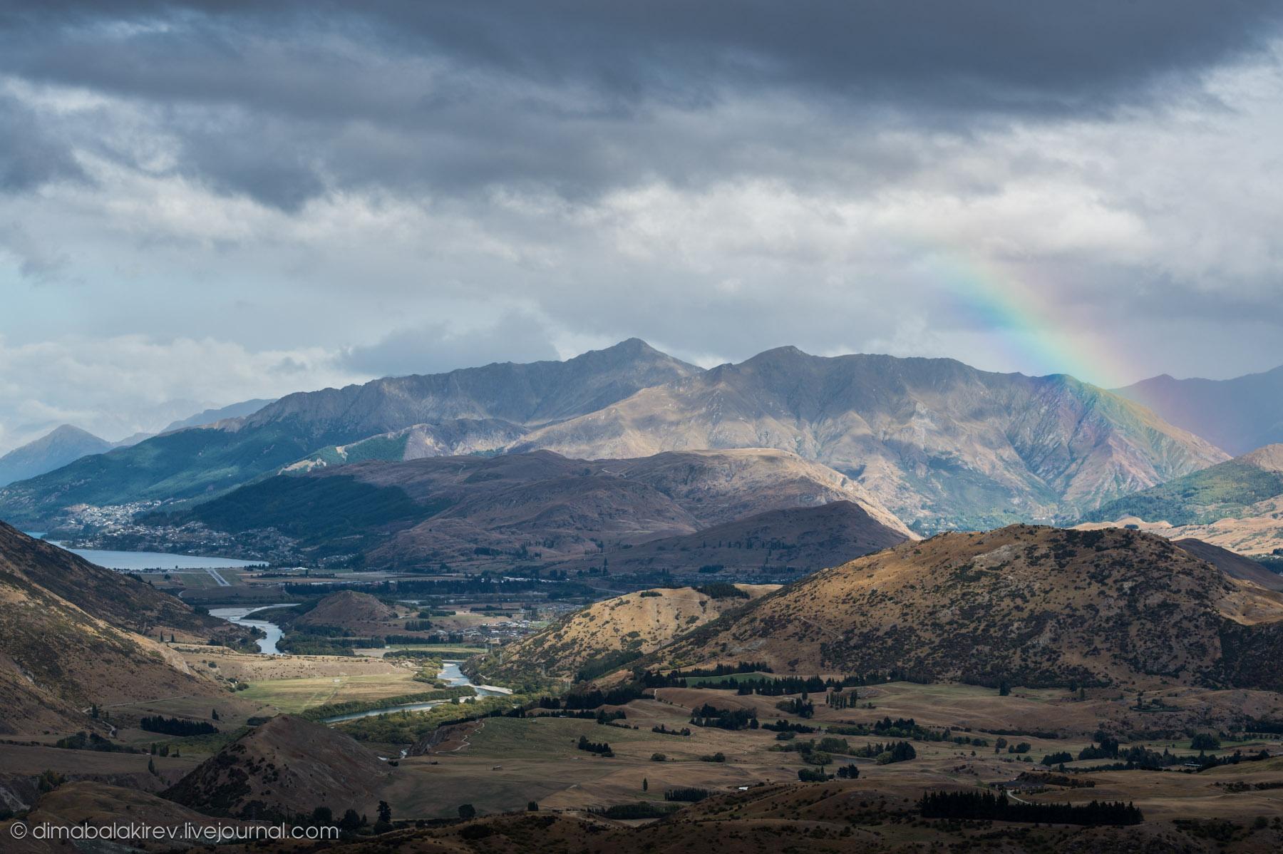 Радуга в Новой Зеландии