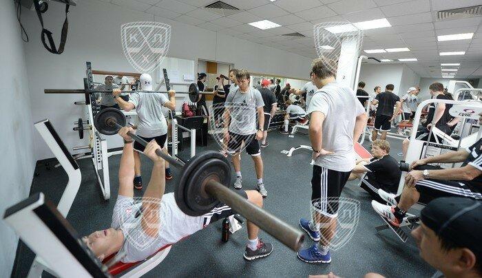 Тренировка ХК «Спартак» в тренажерном зале Сокольников (Фото)