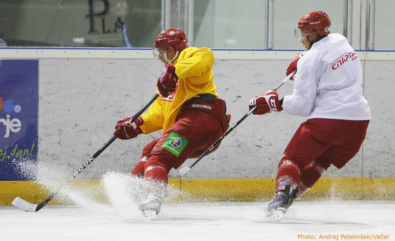 Тренировка ХК «Спартак» на сборе в Мариборе (Фото)
